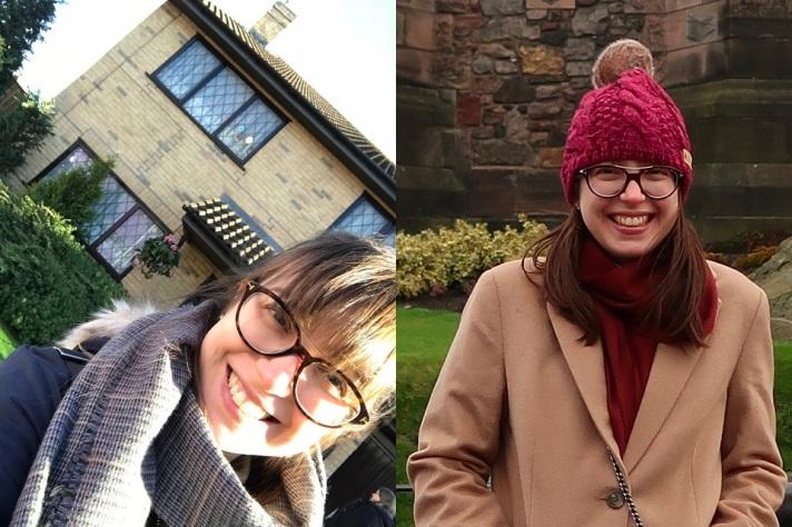 a cor do meu cabelo está diferente na foto da direita porque, na Escócia, eu sou ruiva! hihihi! tem alguma coisa na luz escocesa que muda a cor do meu cabelo!!